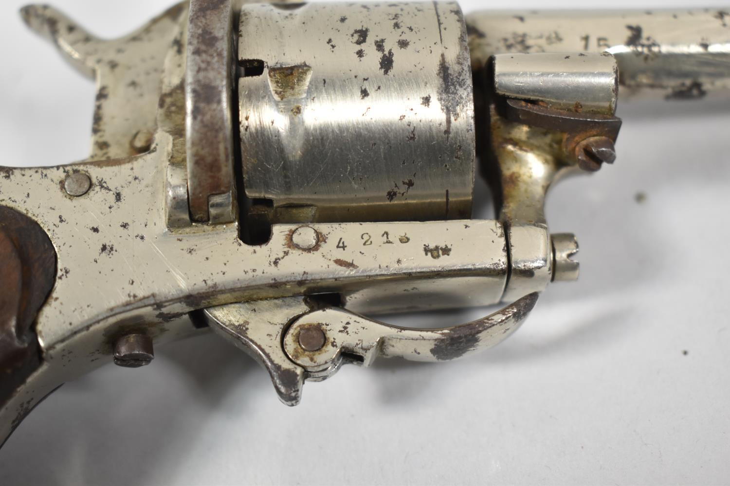 A 19th Century Belgian Rimfire Six Shot Pocket Revolver with Folding Trigger, Belgian Proof Marks - Image 2 of 2
