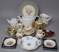 A Collection of Ceramics to Include Aynsley Orchard Gold Teacup and Saucer (Design by D. Jones), Two