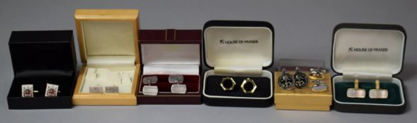 A Collection of Various Gents Cufflinks
