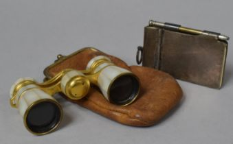An Early 20th Century Pair of Gilt and Mother of Pearl Opera Glass Inscribed Campbell, Hamburg