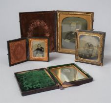 A Collection of Four Late 19th Century Daguerreotype Cased Photographs