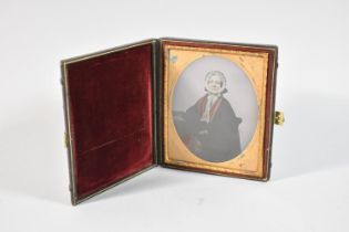 A Late Victorian Cased Daguerreotype Photograph of a Seated Lady, 13.5cm