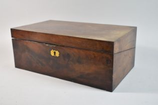 A 19th Century Mahogany Writing Slope, In Need of Attention and Missing One Slope, 41.5cm wide