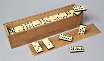 A Cased Set of Nine Spot Dominoes