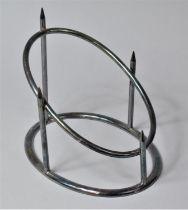 An Edwardian Elkington Silver Plated Ham Hook Stand, 23cm Wide