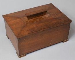 An Edwardian Mahogany Sarcophagus Shaped Box, 24.5cm Wide