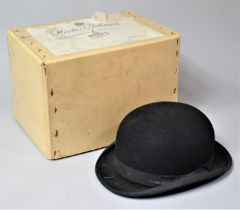 A Vintage Ladies Bowler Hat by Lock & Co., London, Inner Measurements 20cm x 15cm, Complete with
