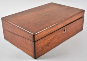 A Late 19th Century Mahogany Writing Slope, 34cm Wide