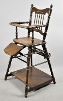A Mid 20th Century Metamorphic Child's High Chair