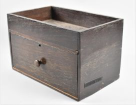 An Edwardian Oak Work Box, Probably Shoe Cleaning Box with Base Drawer and Galleried Top, 28.5cm