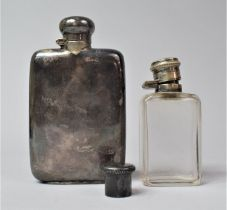 A Silver Plated Hipflask by Asprey, London Together with a Champion and Wilton Silver Plate Topped