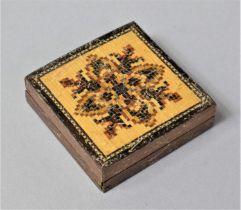 A Small Tunbridge ware Tangram Puzzle, 4.75cm Square