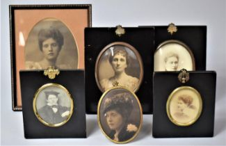A Collection of Various Photographic and Printed Portrait Miniatures