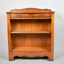 A Modern Galleried Open Bookcase with Two Small Drawers to Top, 80cm Wide