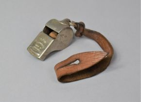 A Military Acme Thunderer Whistle, Stamped with Crows Foot War Department Mark and Numbered C.N