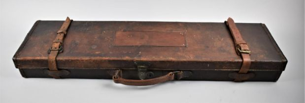 A Late 19th/Early 20th Century Leather Rectangular Shotgun Case, 82cm Long