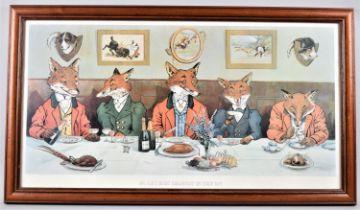 "A Framed Sporting Print, ""Mr Fox's Hunt Breakfast on Xmas Day"", 63x33cm"