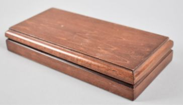 A Modern Mahogany Rectangular Box, 21.5 x 11cm