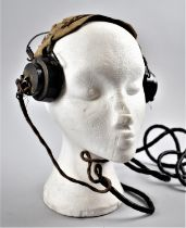 A Pair of Vintage Military Earphones, Number DLR 5