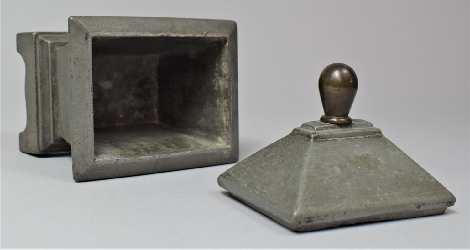 A 19th Century Lead Tobacco Box of Sarcophagus Form, 11cm Wide - Image 5 of 6
