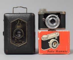 A Vintage Zeiss Ikon Pocket Camera with Novar Anastigmat Lens Together with a Mid 20th Century