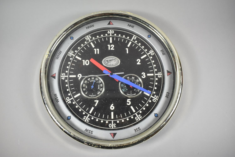 A Modern Circular Spirit of St. Louis Wall Clock, with Battery Movement, 37.5cm Diameter, working