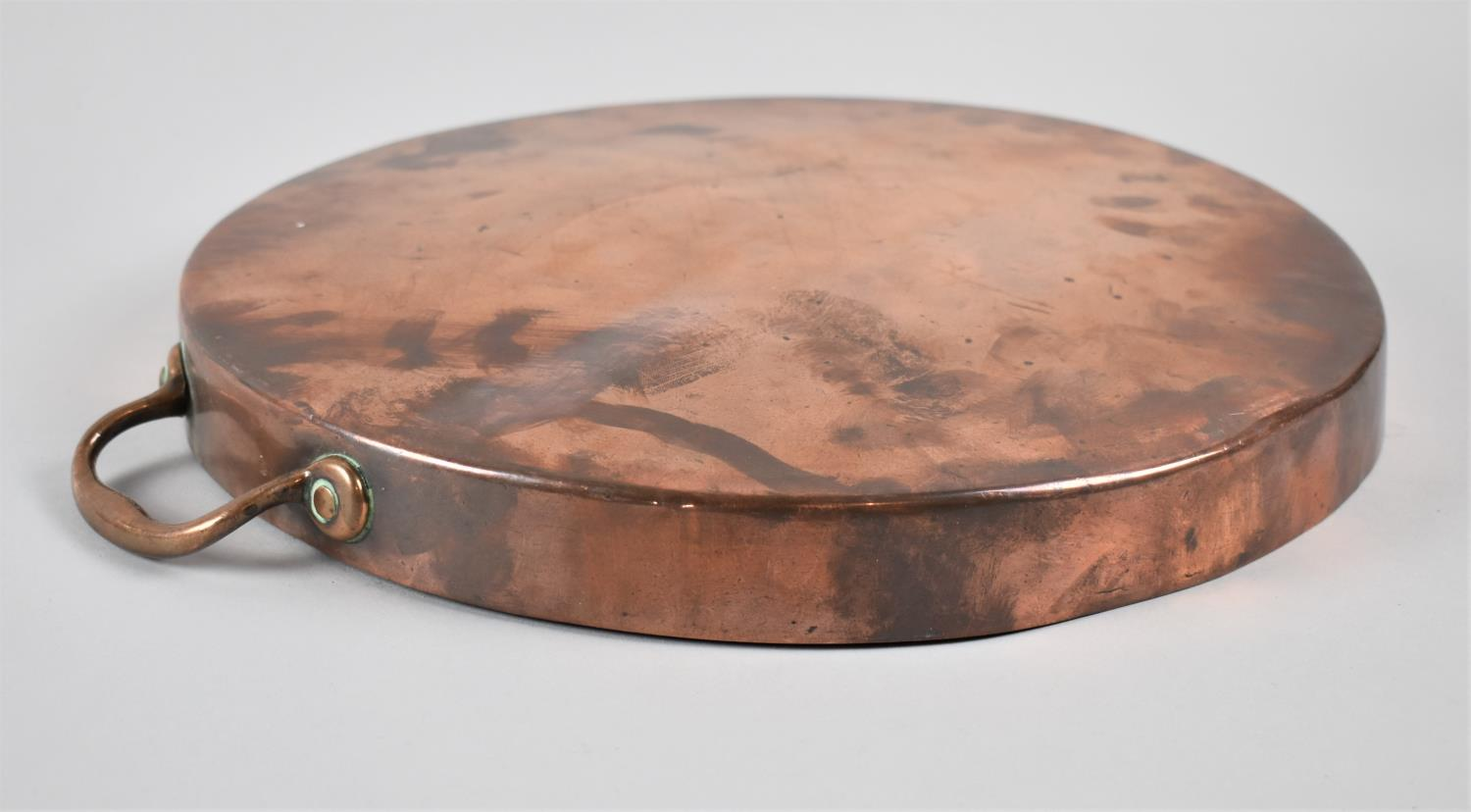 A Victorian Copper Saucepan Lid with Two Handles, 35.5cm Diameter - Image 2 of 3