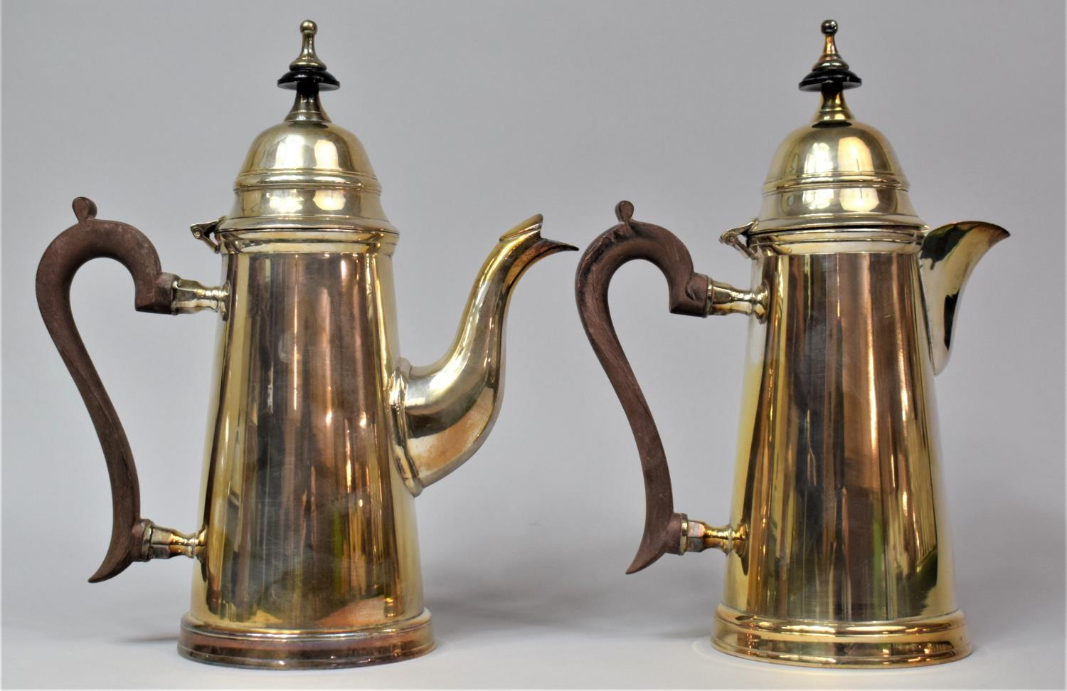 A Pair of Silver Plated Items to Comprise Coffee Pot and Hot Water Jug, both with Hinged Lids, - Image 2 of 2