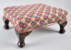 A Modern Rectangular Upholstered Footstool, 36x30cm