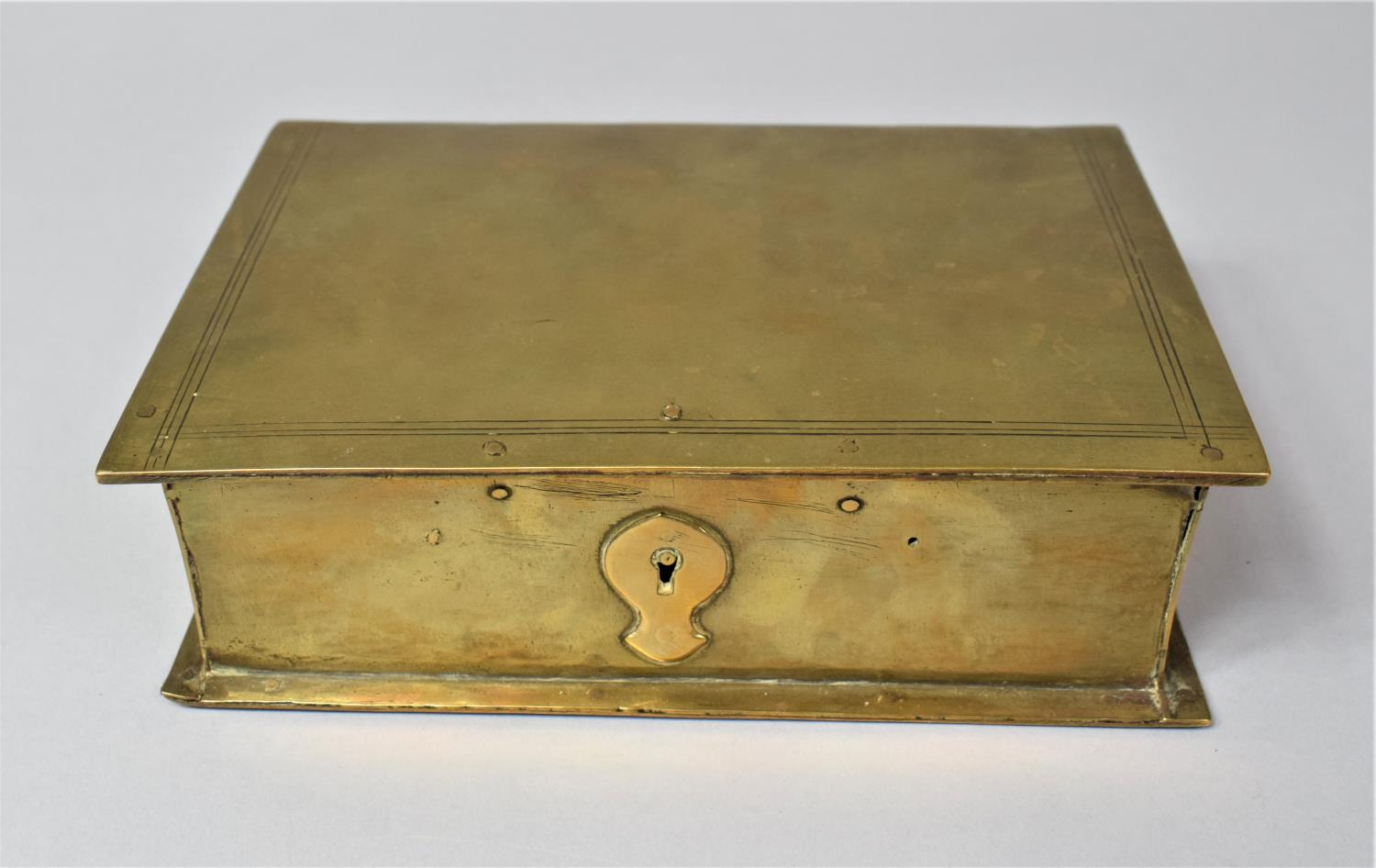 A Late Victorian Novelty Brass Box in the Form of a Book, with Hinged Lid to Fitted Interior, 13cm x - Image 3 of 8
