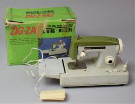 A Vintage Zig Zag Sewing Machine in Original Box, Box AF