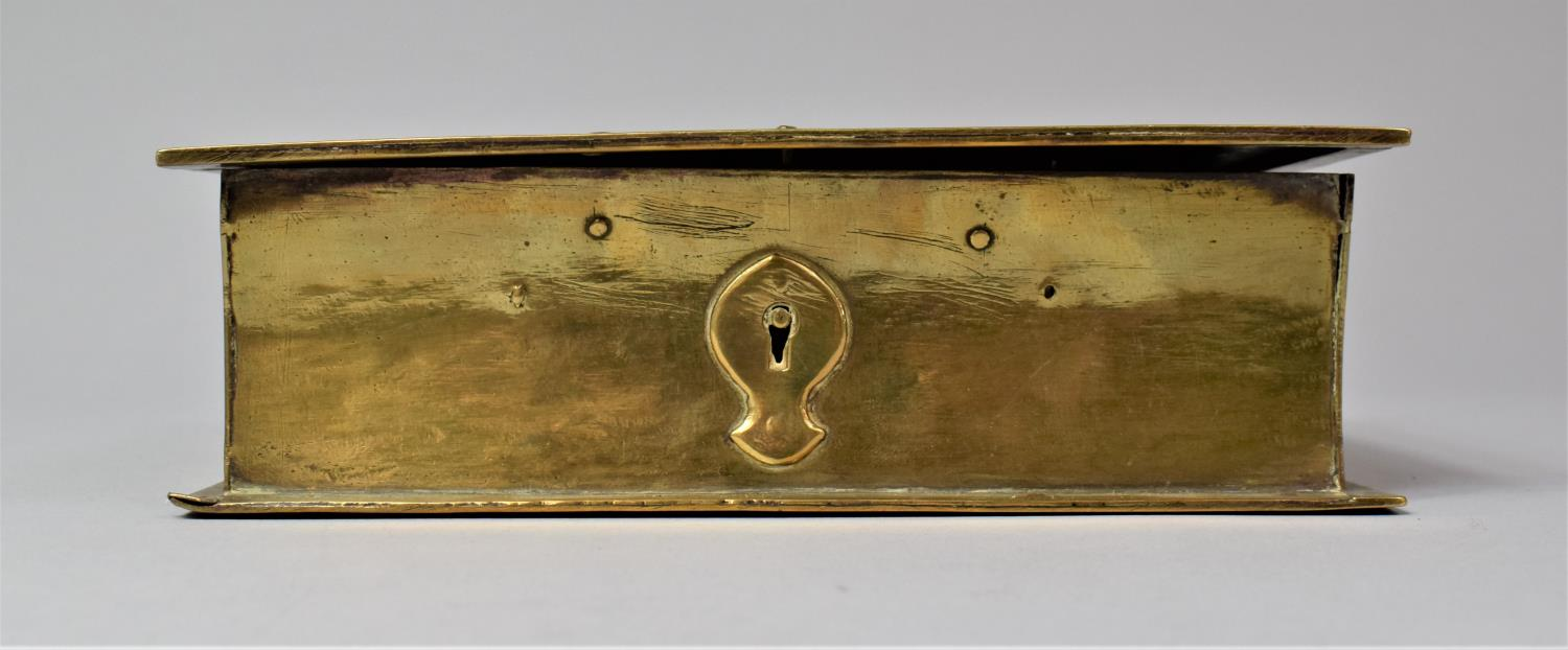 A Late Victorian Novelty Brass Box in the Form of a Book, with Hinged Lid to Fitted Interior, 13cm x - Image 2 of 8