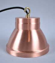 A New and Unused Copper Light Fitting, 17cm Diameter and 16cm high