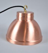 A New and Unused Brushed Copper Ceiling Light Fitting, 20.5cm Diameter and 17cm high
