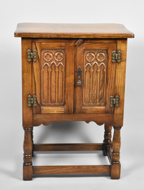 A Mid 20th Century Oak Cabinet, 50cm x 32cm x 68cm high