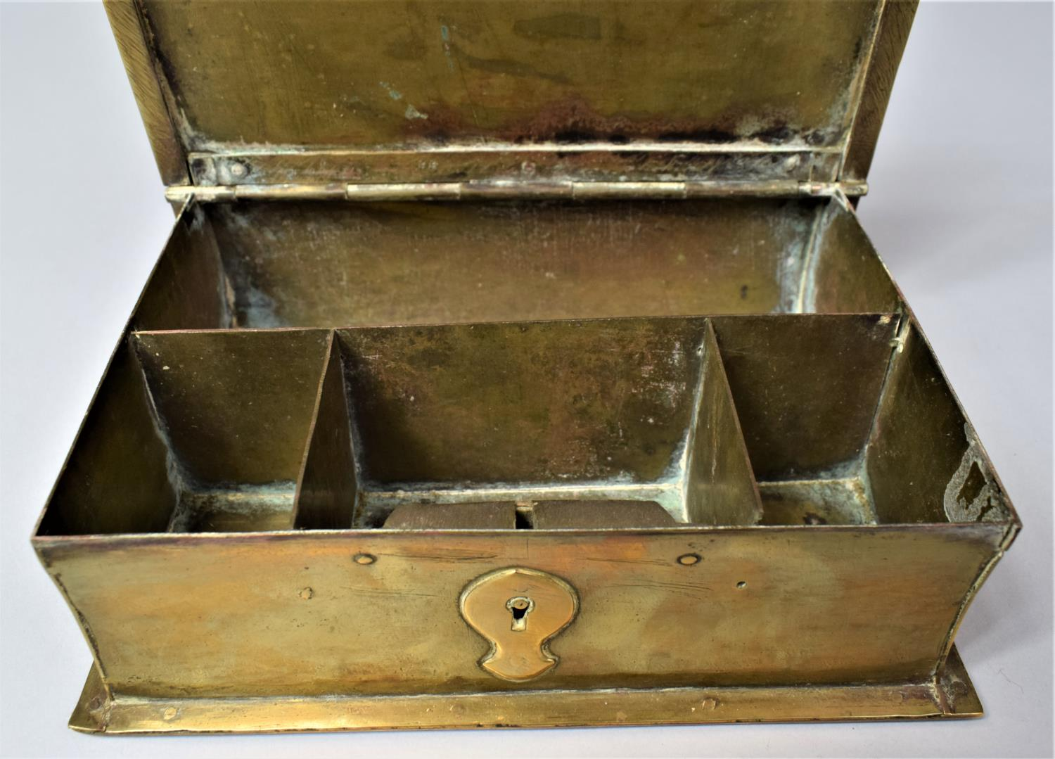 A Late Victorian Novelty Brass Box in the Form of a Book, with Hinged Lid to Fitted Interior, 13cm x - Image 8 of 8