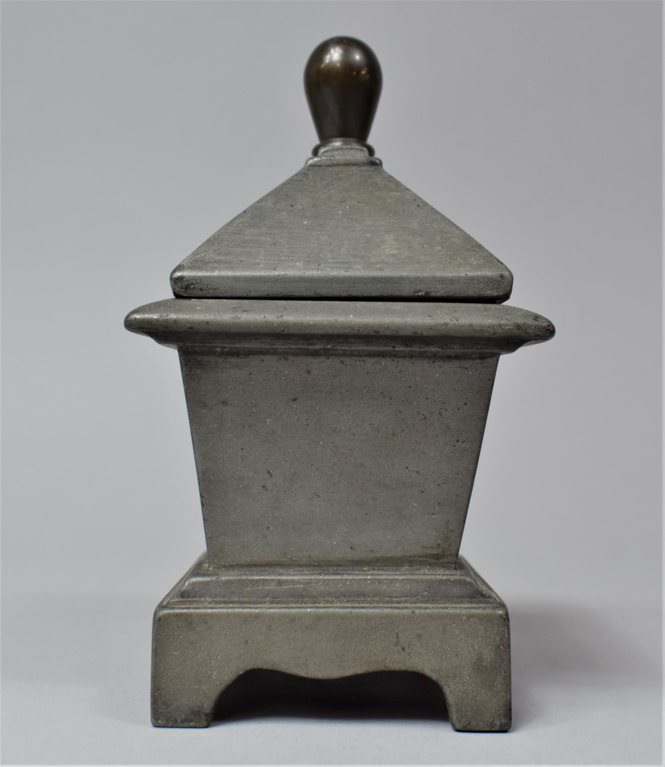 A 19th Century Lead Tobacco Box of Sarcophagus Form, 11cm Wide - Image 3 of 6
