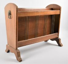 A Late 20th Century Two Division Magazine Rack with Lift Up Centre Partition Which Hinges to Form