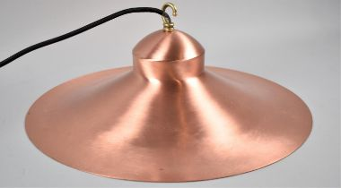 A New and Unused Brushed Copper Ceiling Light Fitting, 41cm Diameter