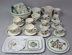 A Collection of Various Portmeirion Botanic Garden China to comprise Bowl, Pots, Coffee cans and