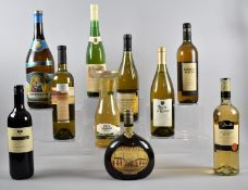A Collection of Ten Bottles of Mixed Wine