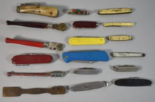 A Collection of Various Vintage Penknives, Glass Cutters Pruning Knife (AF) etc