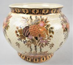 A Modern Oriental Floral Decorated Jardinier with Printed Mark Made in China, 21cm high