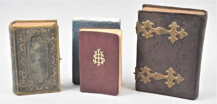 A Boxd Prayer and Hymn Book, Victorian Church Services with Clasp and a Victorian Brass Mounted
