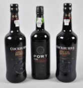 Three Bottles of Port to Include Two Bottles of Cockburn's and One Bottle Ruby