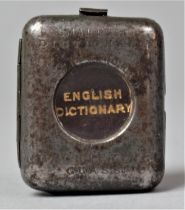 """A Novelty """"World's Smallest Dictionary"""", the Case having in Built Magnifying Glass"""