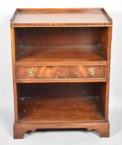 A Reproduction Mahogany Galleried Bookcase or Display with Centre Drawer, 51cm Wide