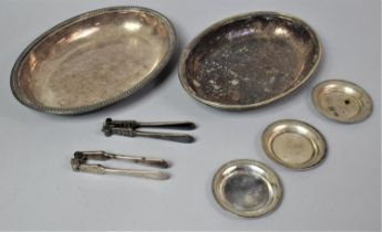 A Silver Plated Oval Entree Dish, Missing Handle, Together with Two Pairs of Nutcrackers and Three