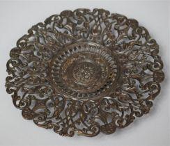 A Pierced Coalbrookdale Plaque, no. 207, 22.5cm Diameter