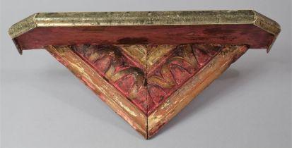 A Far Easter Wooden Shelf Sconce, 39cm Long